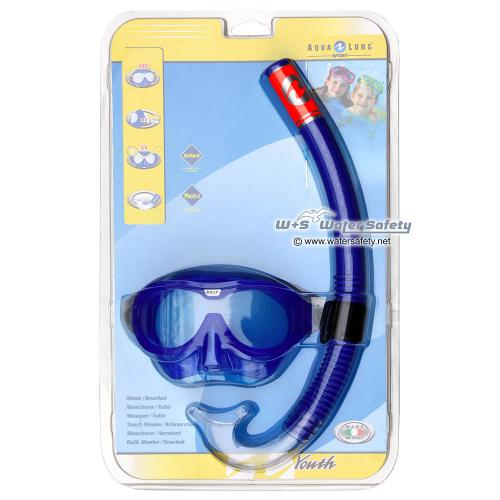 AquaLung Schnorchelset REEF für Kinder, Blau