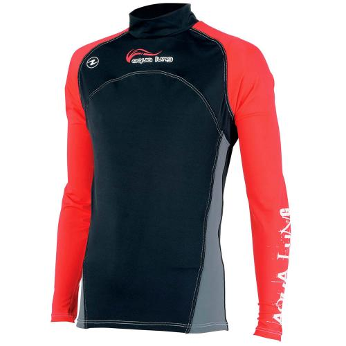 AquaLung RashGuard Men RedNight Langarm, Gr. M