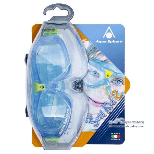 AquaSphere Schwimmmaske SEAL Kid 2 klar / aquablau-lime
