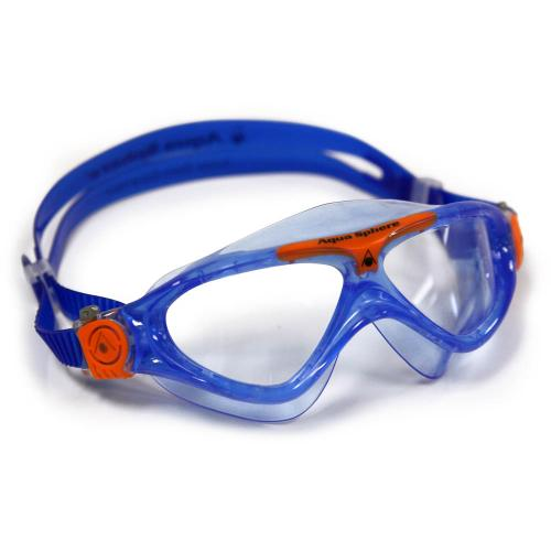 AquaSphere Schwimmmaske VISTA Junior klar / blau-orange