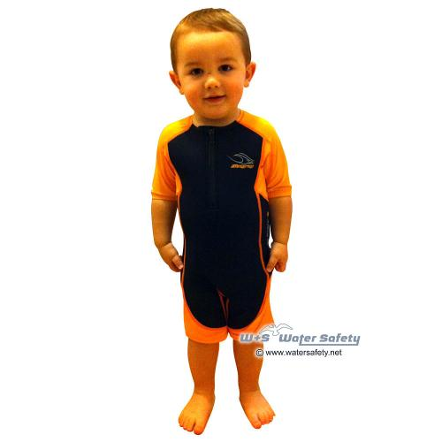 AquaSphere Shorty Stingray Junior 2+Lycra orange/schwarz, Gr. 92, XS