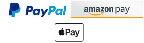 Schnell und sicher bezahlen mit Kreditkarte, PayPal Express und AmazonPayments!