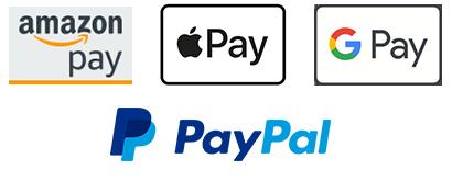 Schnell und sicher bezahlen mit Kreditkarte, Amazon Pay, Apple Pay, Google Pay oder PayPal