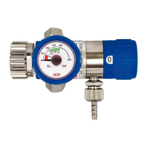 Mediselect 25 O2 Druckminderer kompakt einstufig regelbar, 2x M12x1