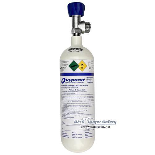 1,0 Liter med. Sauerstoff Flasche