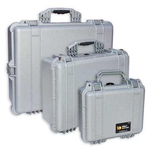 Peli Koffer Farbe Silber