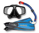 Schnorchel-Ausrüstung: Masken, Flossen, Schnorchel