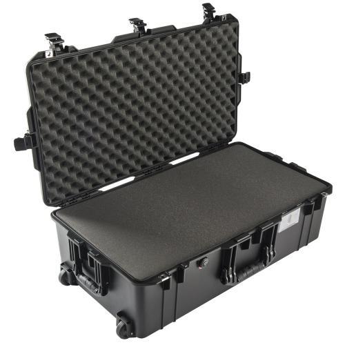 1615 AIR Check-In Koffer Mit Schaum, Schwarz