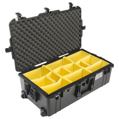 1615 AIR Check-In Koffer, PNP Schnallen, Mit Einteiler, Schwarz