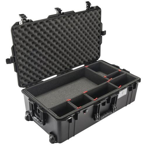 1615 AIR Check-In Koffer, PNP Schnallen, Mit TrekPak Einteiler, Schwarz