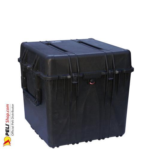 0370 Würfel Koffer, Ohne Schaum, Schwarz