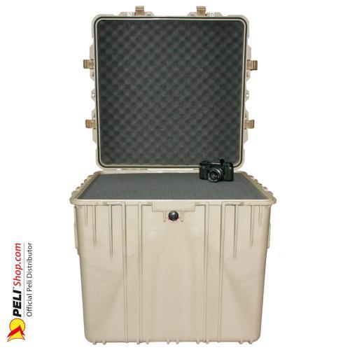 0370 Würfel Koffer, Mit Schaum, Desert Tan