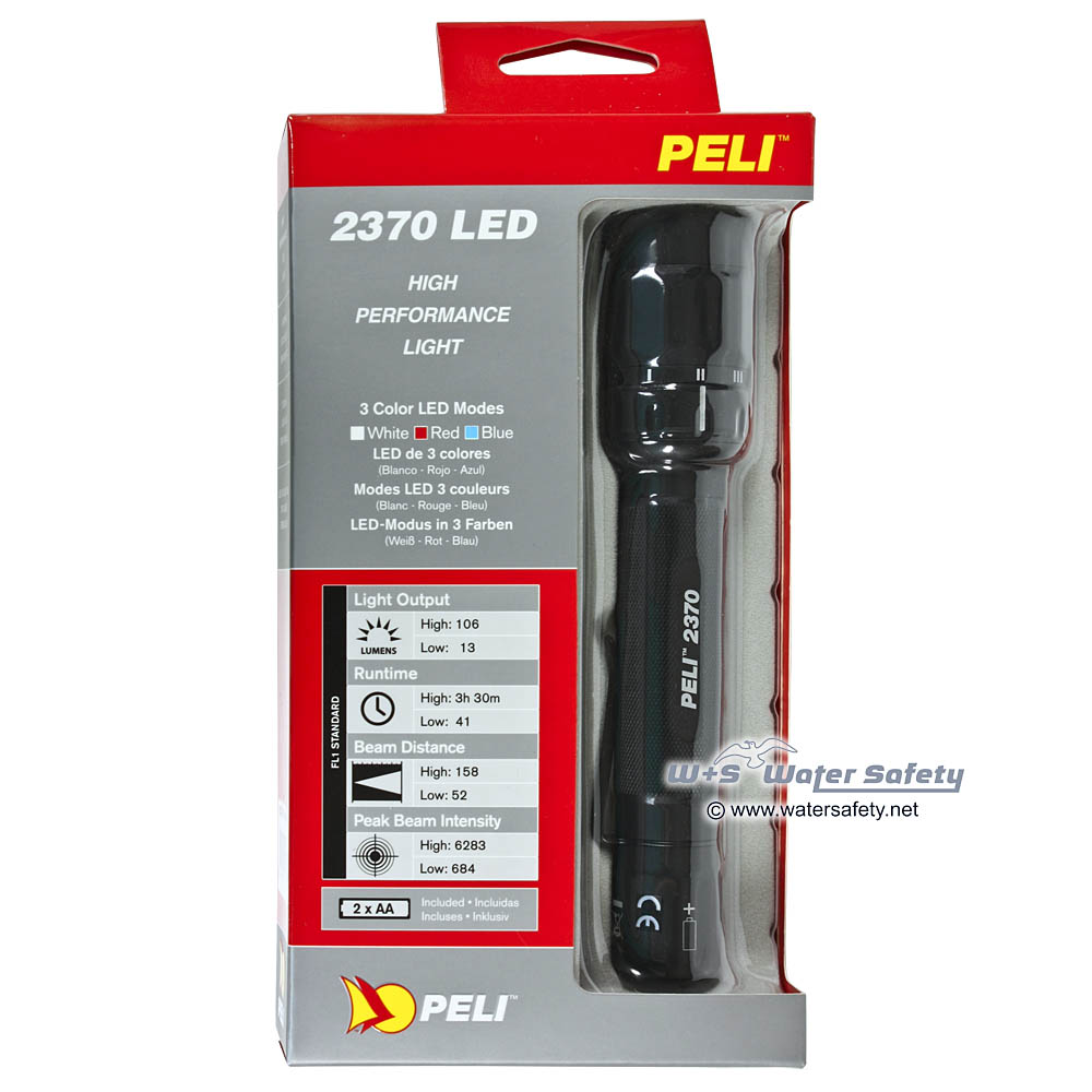 2 x AA Alkaline Batterien Peli 2370 LED-Taschenlampe schwarz inkl