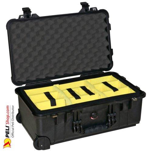 1510 Carry On Koffer, Mit Einteiler, Schwarz