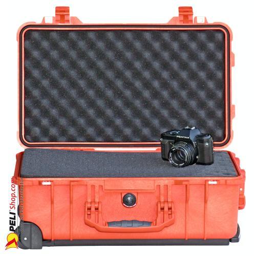 peli 1510 carry on koffer mit schaum orange online shop. Black Bedroom Furniture Sets. Home Design Ideas