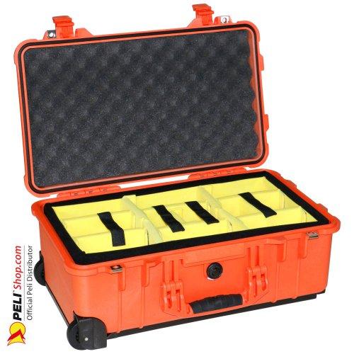 1510 Carry On Koffer, Mit Einteiler, Orange