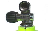 Abb.: DIN Nitrox / Luftventil - Tauchflasche